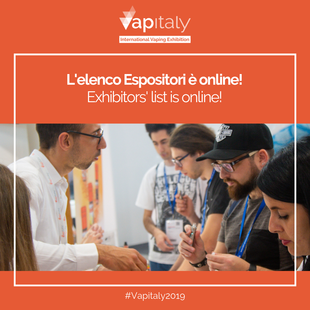 Online list of exhibitors at the fifth edition of Vapitaly